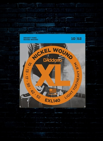 D'Addario EXL140 XL Nickel Wound Electric Guitar Strings - Light Top / Heavy Bottom (10-52)