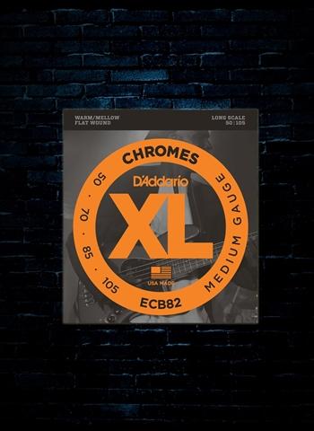 D'Addario ECB82 XL Chromes Flat Wound Bass Strings ...
