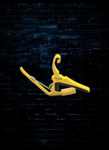 Kyser KG6Y - 6-String Acoustic Quick-Change Capo - Yellow Blaze