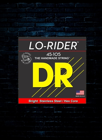 DR MH-45 Lo-Rider Stainless Steel Bass Strings - Medium (45-105)