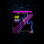 DR NPB-45 K3 NEON Pink Bass Strings - Medium (45-105)