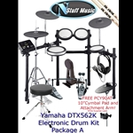 Yamaha DTX562K Electronic Drum Kit Package A