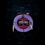 Ernie Ball 25' Braided Straight to Angle Instrument Cable - Purple