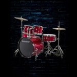 Ludwig LC175 Accent Series 5-Piece Drum Set - Red