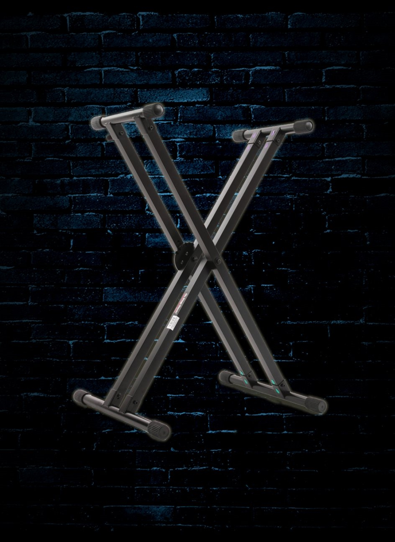 KS7291 On-Stage Pro Heavy-Duty Double-X Ergo-Lok Keyboard Stand
