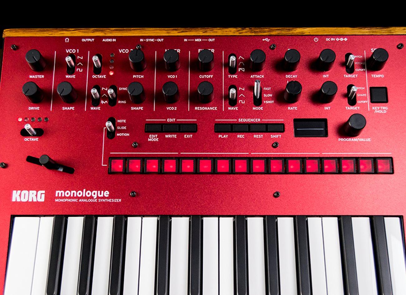 Korg monologue 25-Key Monophonic Analogue Synthesizer - Red