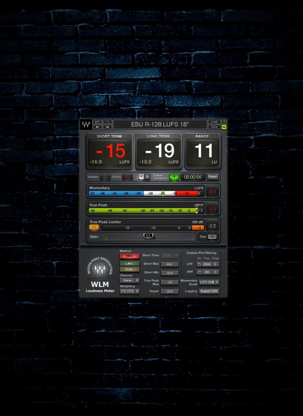Waves WLM Plus Loudness Meter Plug-In (Download)