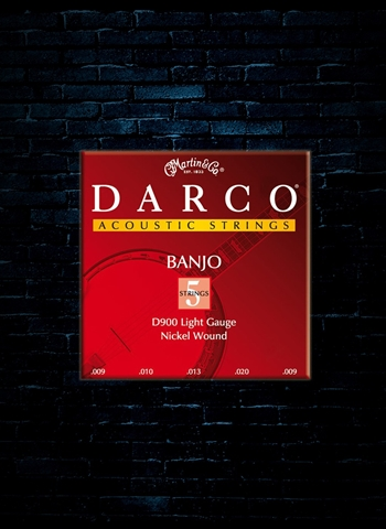 Darco D900 Banjo Nickel Wound Banjo Strings - Light (9-20)