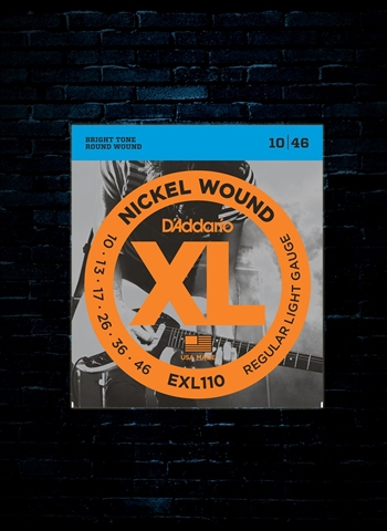 D'Addario EXL110 XL Nickel Wound Electric Strings - Light (10-46)