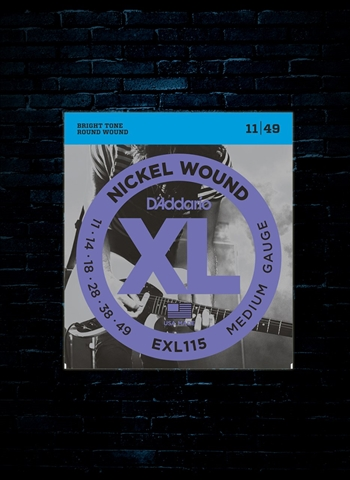 D'Addario EXL115 XL Nickel Wound Electric Strings - Medium (11-49)