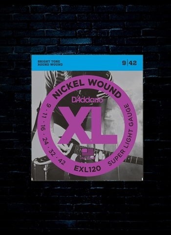 D'Addario EXL120 XL Nickel Wound Electric Strings - Super Light (9-42)