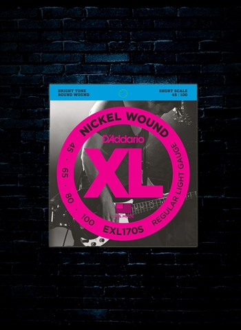 D'Addario EXL170S XL Nickel Wound Bass Strings - Short Scale Light (45-100)