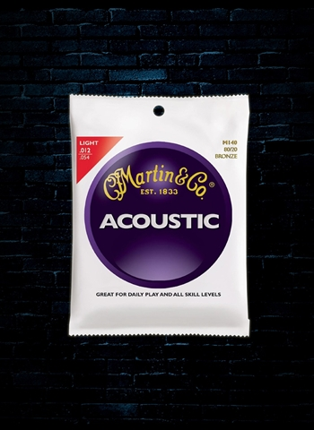 Martin M140 Traditional 80/20 Bronze Acoustic Strings - Light (12-54)