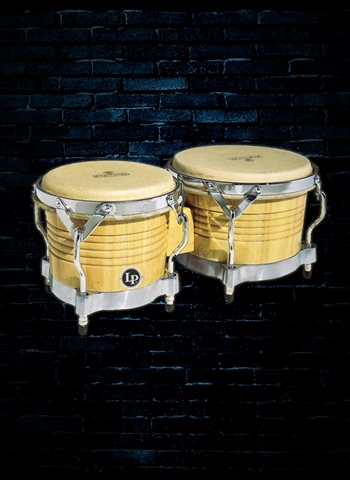 Latin Percussion M201-AWC Matador Series Wood Bongo - Natural