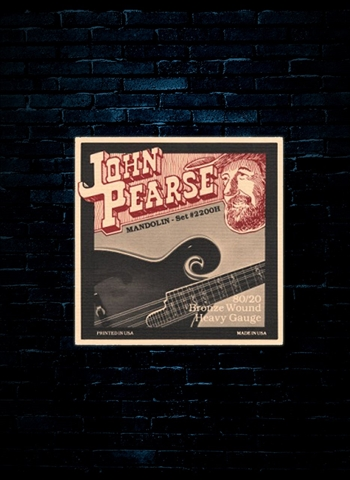 John Pearse 2200H - 80/20 Bronze Mandolin Strings - Heavy (12-40)