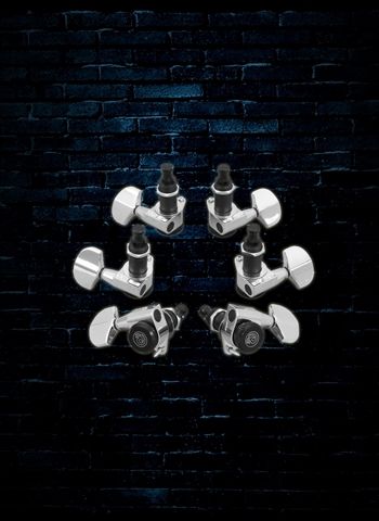 Planet Waves PWAT-331L - 3 Per Side Auto-Trim Tuning Machines - Chrome