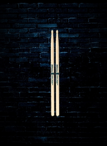 "Promark TXR5AW Hickory 5A ""The Natural"" Wood Tip Drumsticks"