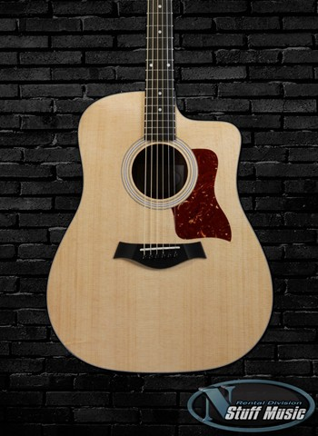 Taylor 110 CE Solid Top Acoustic Guitar - Rental