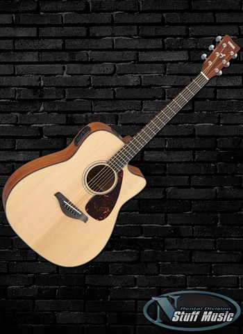 Yamaha FGX700SCNAT Solid Top Acoustic Guitar - Rental