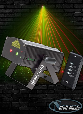 American DJ Micro 3D - Rotating Red and Green Laser - Rental