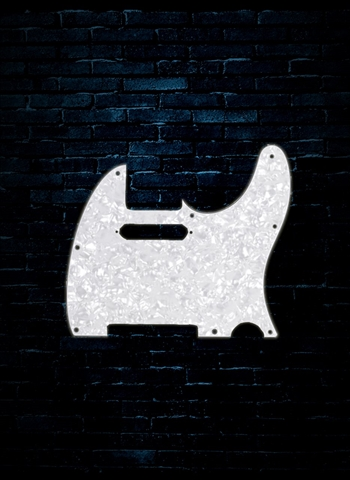 Fender 8-Hole Mount Multi-Ply Telecaster Pickguard - White Moto