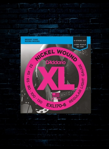 D'Addario EXL170-6 XL Nickel Wound Bass Strings - 6-String Light (32-130)