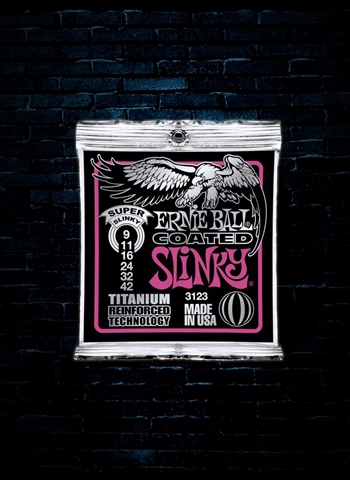 Ernie Ball 3123 RPS Coated Titanium Electric Strings - Super Slinky (9-42)
