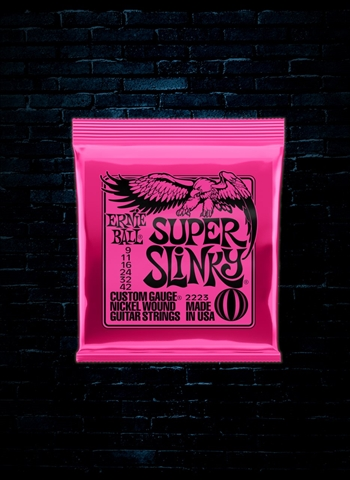 Ernie Ball 2223 Nickel Wound Electric Strings - Super Slinky (9-42)