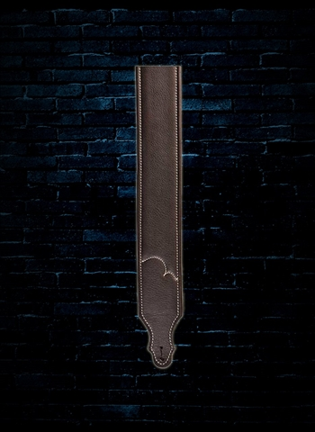 "Franklin 10C-CH-N - 3"" Padded Leather Guitar Strap - Chocolate"