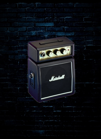 Marshall MS-2 - 1 Watt Mini Guitar Half Stack - Black