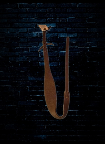 Long Hollow 71070 Leather Softy Mandolin Strap - Brown