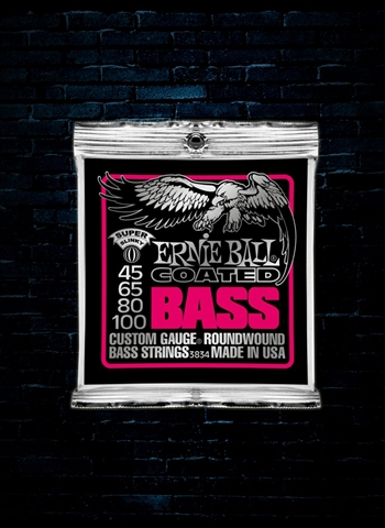 Ernie Ball 3834 Coated Electric Bass Strings - Super Slinky (45-100)