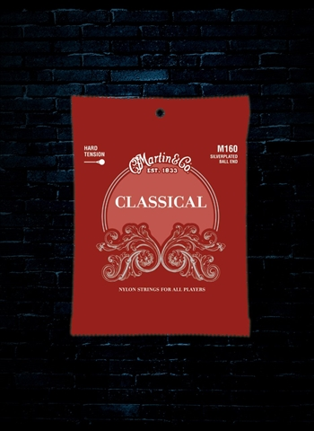 Martin M160 Silverplated Classical Guitar Strings - Ball End (28-43)