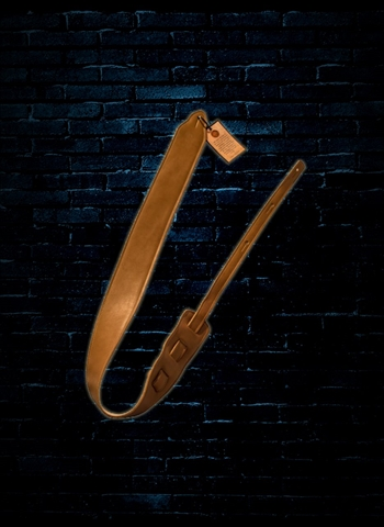 "Long Hollow 72020 - 2.5"" Leather Princeton Guitar Strap - Tan"