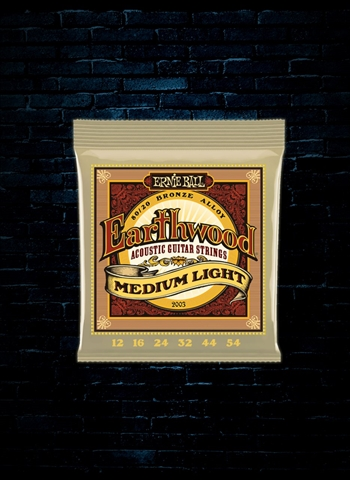 Ernie Ball 2003 Earthwood 80/20 Bronze Acoustic Strings - Medium Light (12-54)