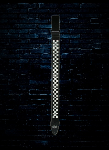 "LM Products PS-201CK - 2"" PS Slider Studded Guitar Strap - Checkered"