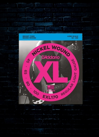 D'Addario EXL170 XL Nickel Wound Bass Strings - Light (45-100)