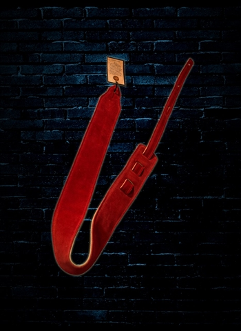 "Long Hollow 72120 - 2.5"" Sued Guitar Strap - Red"