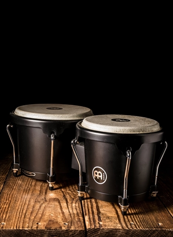 Meinl HB100PBK-M Headliner Series Wood Bongo - Phantom Black