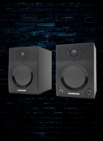 "Samson MediaOne BT4 - 40 Watt 1x4"" Bluetooth Monitors (Pair) - Black"