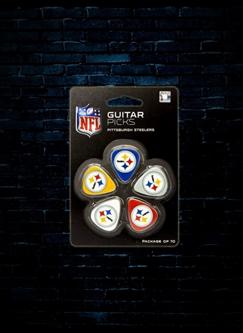 Woodrow GPNFL-25 Pittsburgh Steelers Guitar Picks (10 Pack)