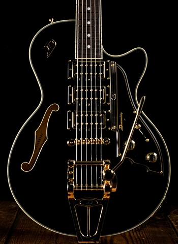 Duesenberg DTV Custom Hollowbody Electric Guitar - Black