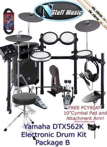 Yamaha DTX562K Electronic Drum Kit Package B