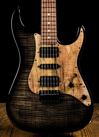 Suhr Standard Custom Flame Maple/Pau Ferro - Trans Charcoal Burst