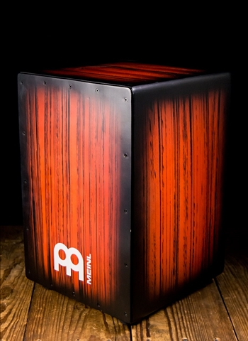 Meinl HCAJ2RTS Headliner Series Tiger Striped Cajon - Rojo