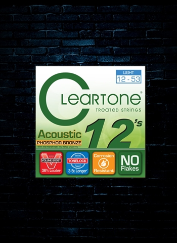 Cleartone 7412 Phosphor Bronze Acoustic Strings - Light (12-53)