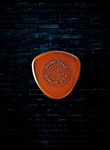 Dunlop 1.3mm Primetone Semi-Round Sculpted Plectra with Grip Guitar Pick (3 Pack)