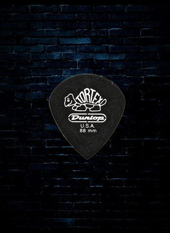 Dunlop 482 - .88mm Tortex Pitch Black Jazz III Guitar Pick (72 Pack)
