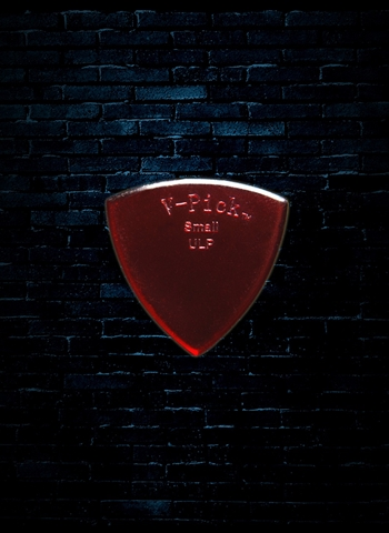 V-Picks 0.8mm Small Pointed Ultra Lite Guitar Pick - Ruby Red