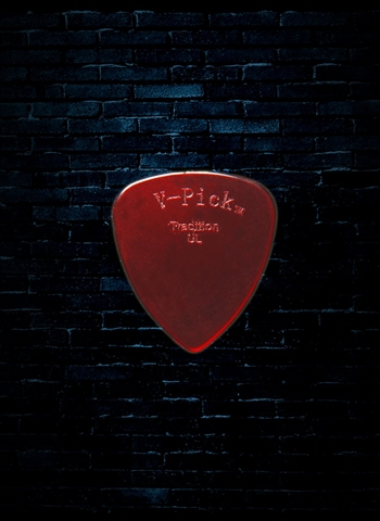 V-Picks 0.8mm Tradition Ultra Lite Pick - Ruby Red